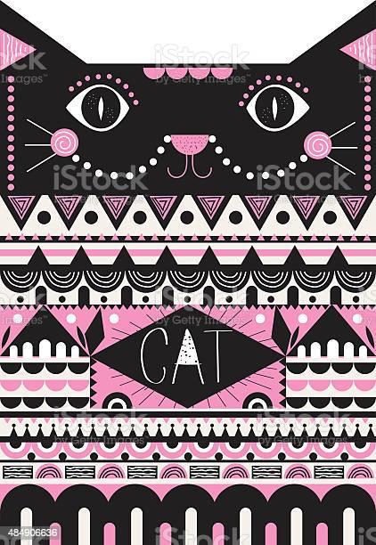 Cute cat illustration with trendy ornaments vector id484906636?b=1&k=6&m=484906636&s=612x612&h=gw aqap0xlwmdkykyxtqmdnjvzh6zge7fwrt5mkd7mu=
