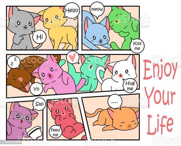 Cute cat in comic style vector id1142431556?b=1&k=6&m=1142431556&s=612x612&h=3ju2en1lvkstbvgpooicgwpv3kwzaw3ihj agijxkkq=
