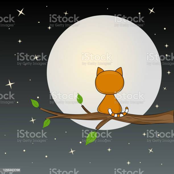 Cute cat is sitting on the tree and looks at the moon vector id1056463268?b=1&k=6&m=1056463268&s=612x612&h=feecp   wicb4gpsq0ralyi0swxk6axunl8fhmsytkg=
