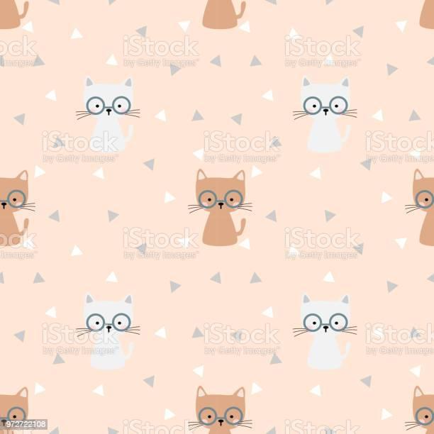 Cute cat is wearing eyeglass seamless pattern vector id972722108?b=1&k=6&m=972722108&s=612x612&h=wlzkojwtz06ei43lqftvsbmrsli9cb3whw4to3fl6no=