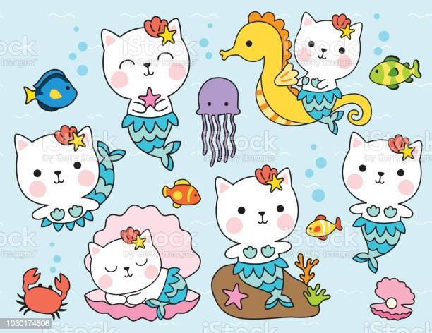 Cute cat mermaid under the sea vector illustration vector id1030174806?b=1&k=6&m=1030174806&s=612x612&h=m6so3shg2zjj6brvqrbby89zz ef2m2hln5tl0su5rc=