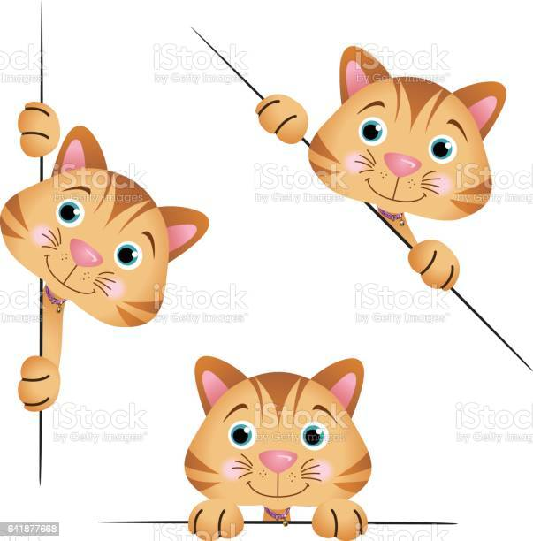 Cute cat peeking from behind in various positions vector id641877668?b=1&k=6&m=641877668&s=612x612&h=qxp ns3bdv  wxdeujc8b4b3bddk8qabbg412xohreq=