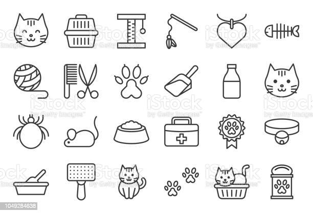 Cute cat related icon such as cat litter box and toy outline editable vector id1049284638?b=1&k=6&m=1049284638&s=612x612&h=z7eqlxb66cahx8e2kwg0nuihbpn65fwyembstx0hrcm=
