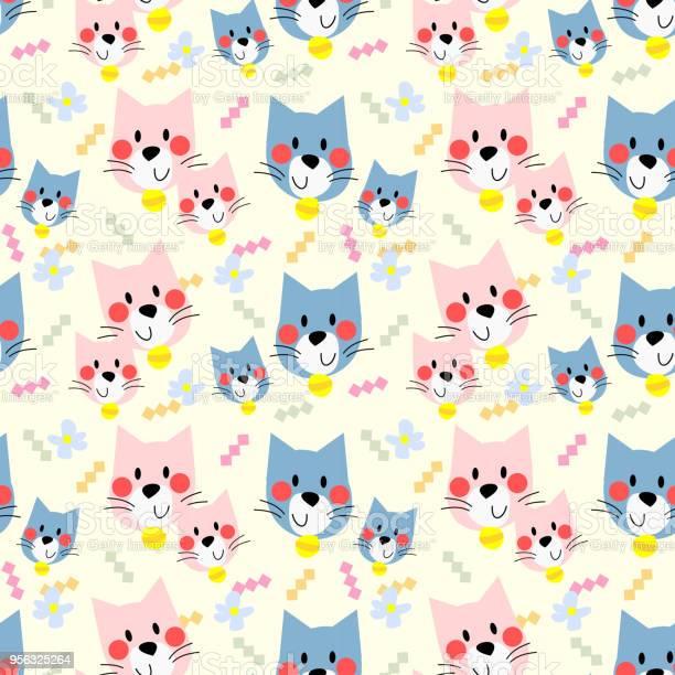 Cute cat seamless pattern vector id956325264?b=1&k=6&m=956325264&s=612x612&h=ciz9zqgedee8v5rc3n39p1i4xpqz2h 0ois71s8 i9i=