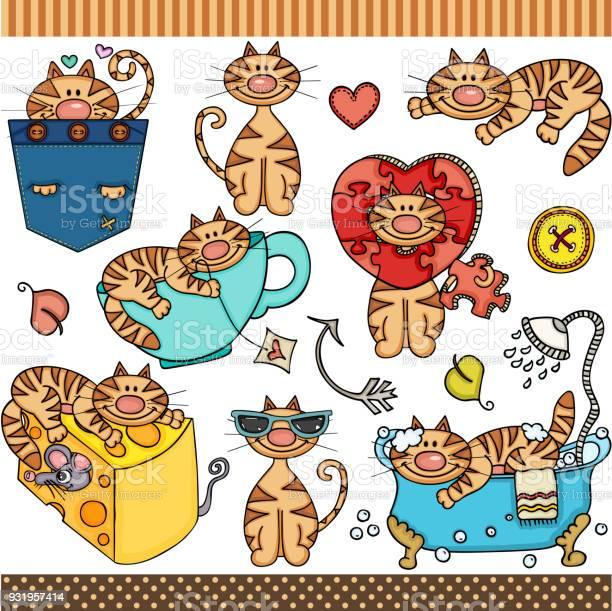 Cute cat set digital elements vector id931957414?b=1&k=6&m=931957414&s=612x612&h=jghb6imktcp38hk6pnx8p axkckw7mz8f3b 1xg3mtw=