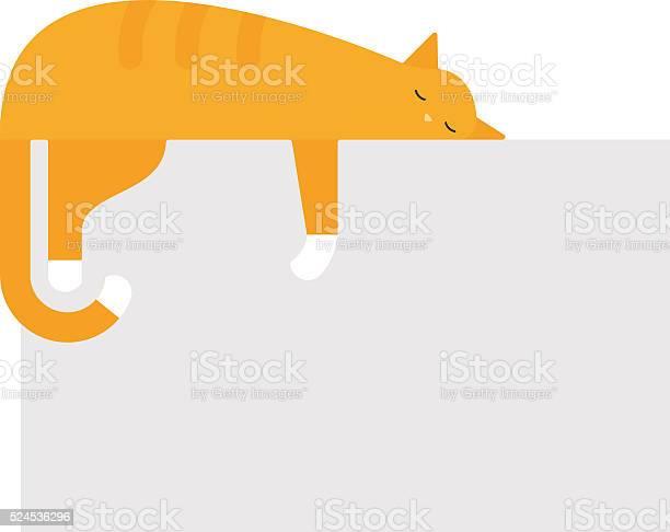 Cute cat sleeping on platform house feline domestic young adorable vector id524536296?b=1&k=6&m=524536296&s=612x612&h=to2czh9aakzhup6xm slgtgnibybd5qzpnbhtnr2djs=