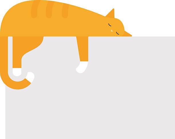 かわいい猫のプラットフォームベッドの上の可愛い家フェリネ国内若い ベクターアートイラスト