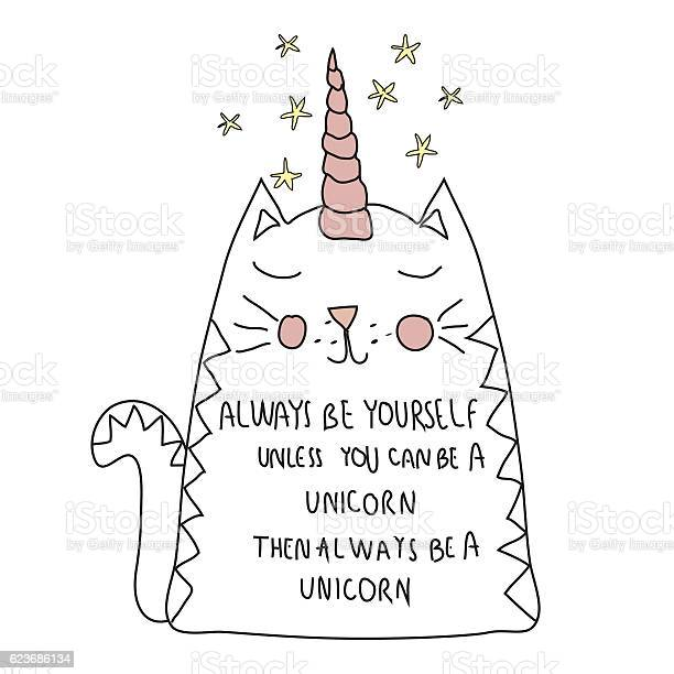 Cute cat unicorn with motif for t shirt postcard vector id623686134?b=1&k=6&m=623686134&s=612x612&h=1rwxwfvyslbyb0gthjyip6ppfkw3epekuc4hl6k0tao=