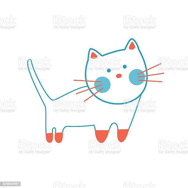 Cute cat vector illustration vector id526835551?b=1&k=6&m=526835551&s=612x612&h=oqpl pwjbud adqztf8b0jw9atas1sik4ccnrh ru5a=