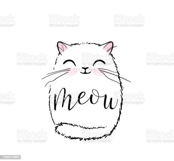 Cute cat vector print design meow lettering text kitten face vector vector id1035076902?b=1&k=6&m=1035076902&s=612x612&h=eupccksudi5ascw1nov8hyjqunqj3rod9rorybj gy8=