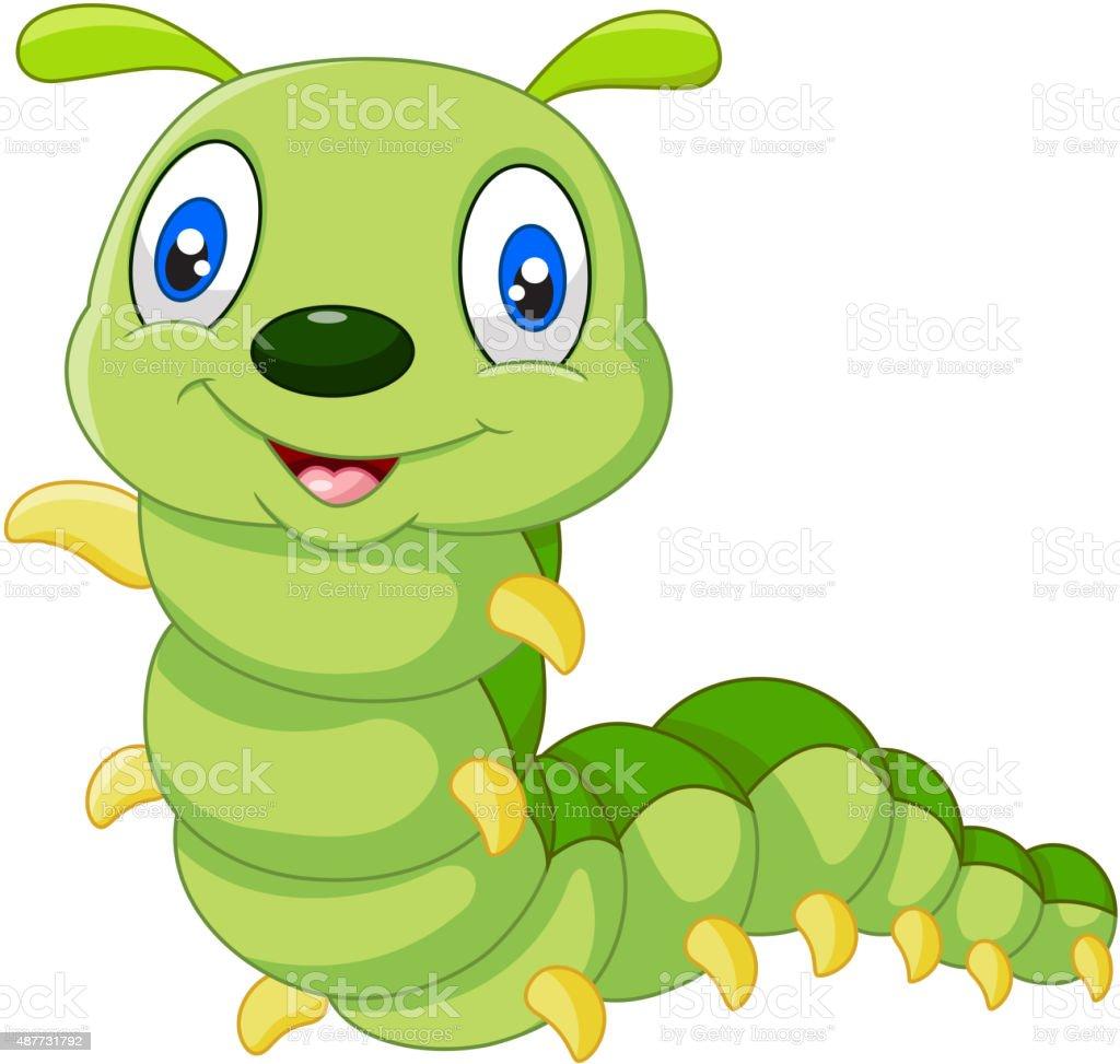 Cute Caterpillar Cartoon Stock Illustration Download Image Now