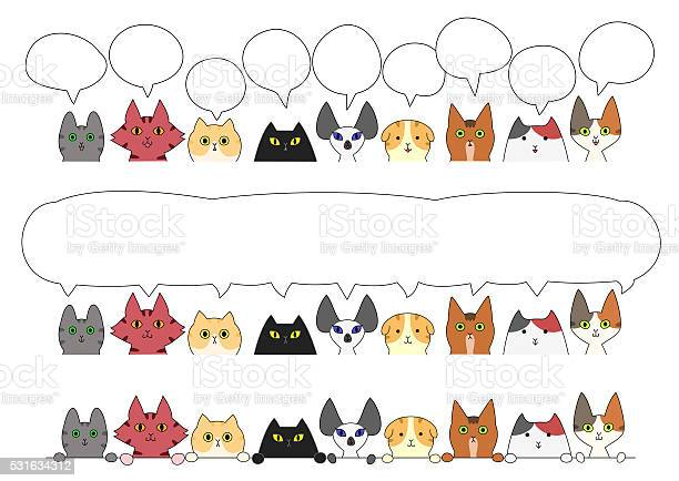 Cute cats border set vector id531634312?b=1&k=6&m=531634312&s=612x612&h=z weekmuam8si78zigjmbgfscmnwgsr9ukvyqfh6z4y=