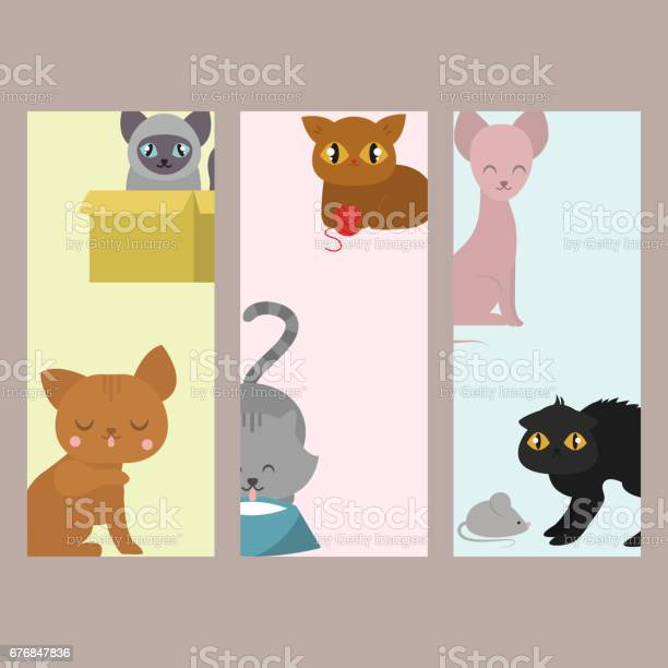 Cute cats cards character different pose funny animal domestic kitten vector id676847836?b=1&k=6&m=676847836&s=612x612&h=pmbev0hky3gcjr1cylj ai1p gczavwlteh3ckomz7c=