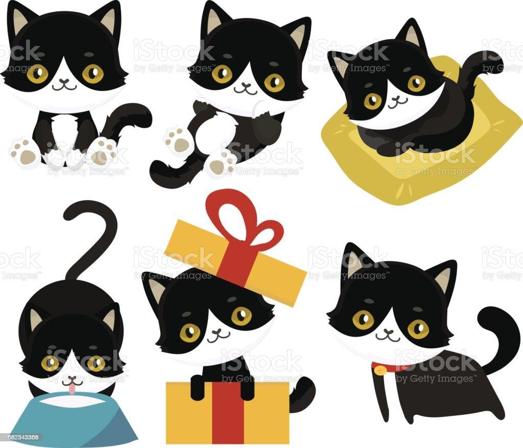 Schattige katten karakter. royalty free schattige katten karakter stockvectorkunst en meer beelden van 1980-1989