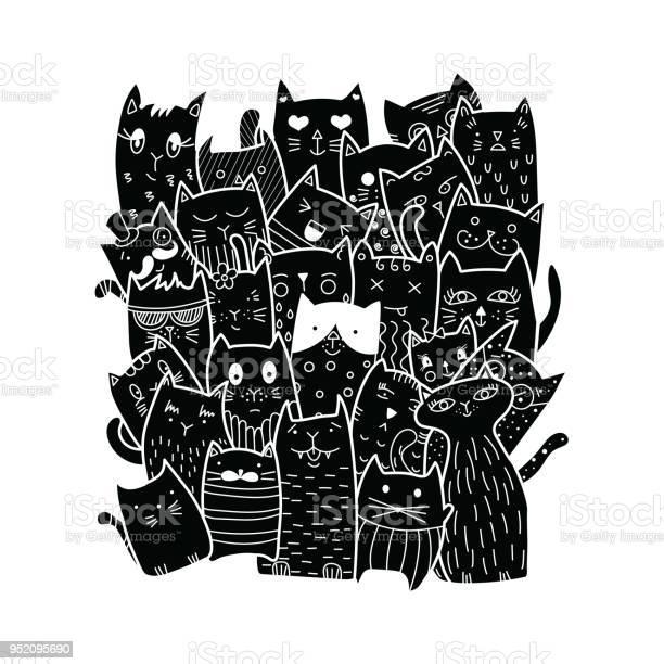 Cute cats doodle style vector id952095690?b=1&k=6&m=952095690&s=612x612&h=wpcd60s 00yll11bx2ltk15lod  iscfj00nkesb8ma=