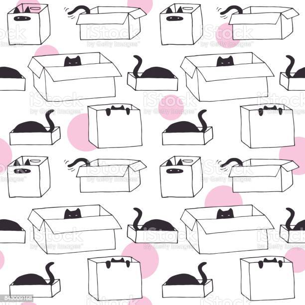 Cute cats in boxes vector hand drawn seamless pattern vector id843009168?b=1&k=6&m=843009168&s=612x612&h=9cefyrkclwvjubwxmex3oz9f2lqm4qojbofolimfeui=