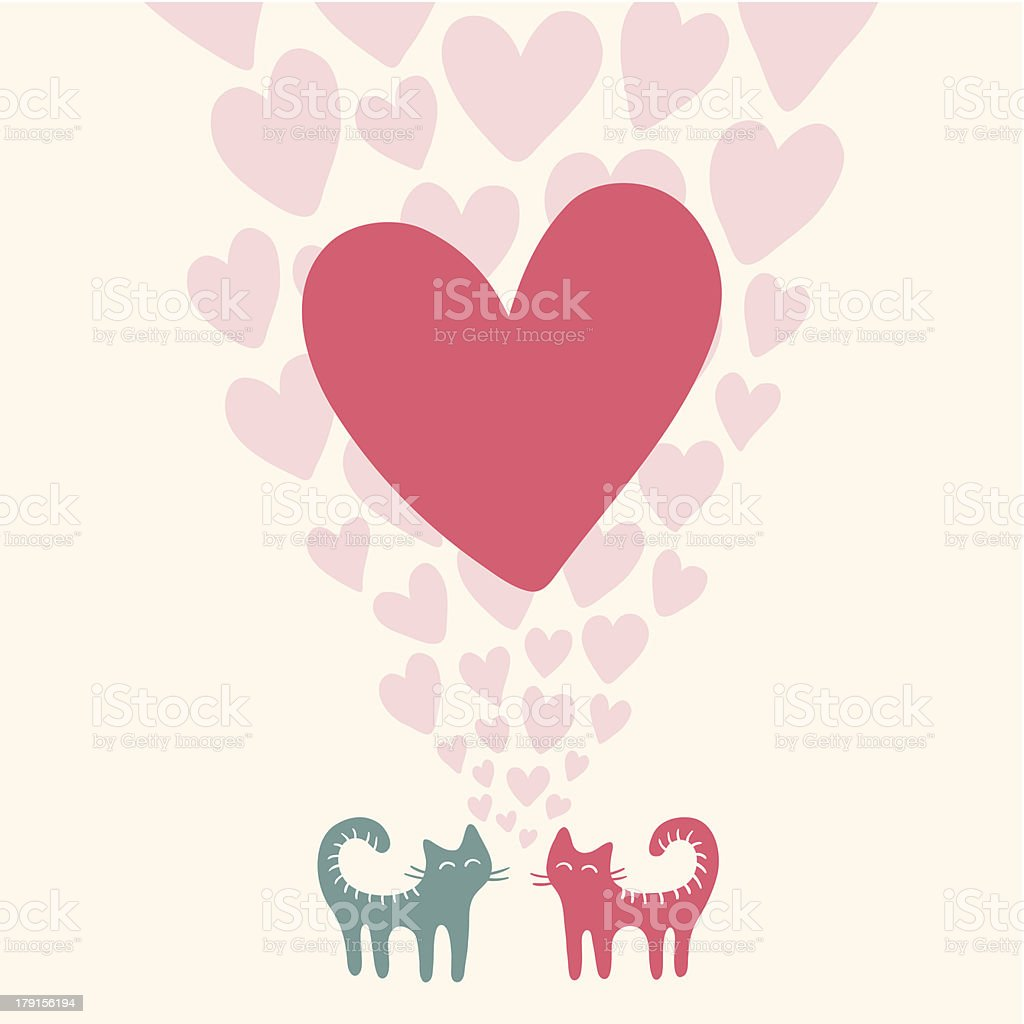 Cute cats in love royalty-free cute cats in love stock vector art & more images of animal