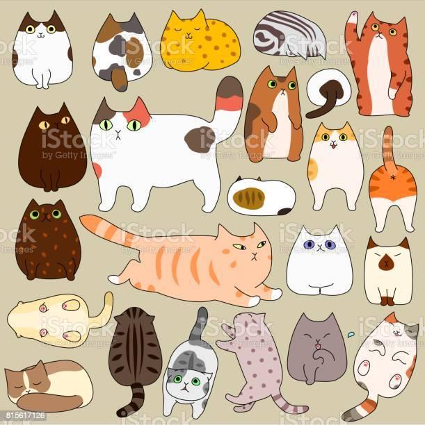 Cute cats posing doodle set vector id815617126?b=1&k=6&m=815617126&s=612x612&h=4pre2rbo h43wjrtzbvk0dzks2pwufct awhub5 d 4=