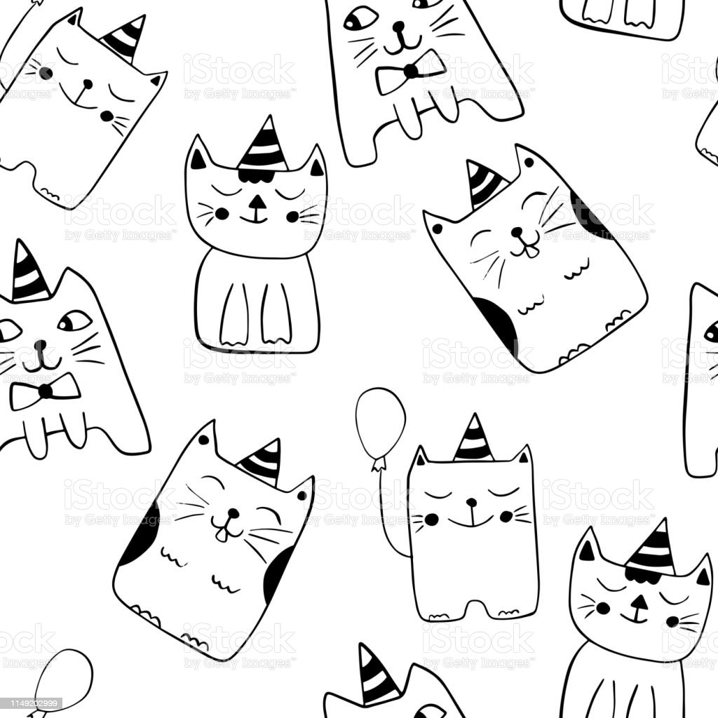 cartoon character drawings outline in black and white