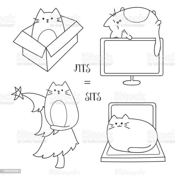 Cute cats seat on different home objects tv laptop christmas tree and vector id1083365954?b=1&k=6&m=1083365954&s=612x612&h=tskyj99rnmg7v dlqm6jxkhkhddmzo hnr6njzaa60q=
