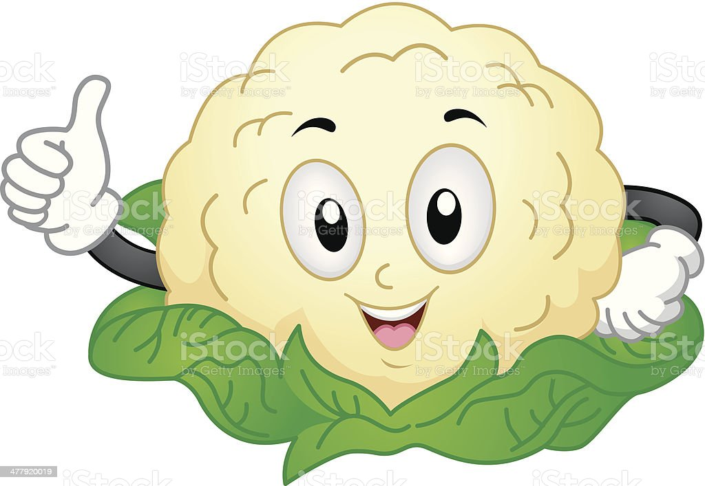 Cute Cauliflower royalty-free stock vector art