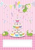 Happy chameleons at a birthday party
