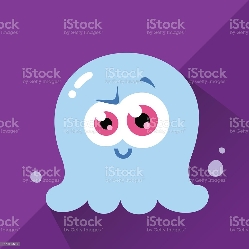Cute Character - Blobby royalty-free stock vector art