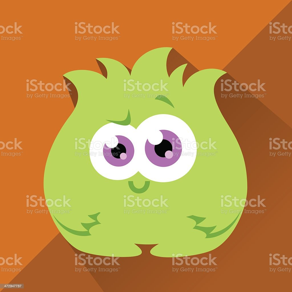Cute Character - Bushy vector art illustration