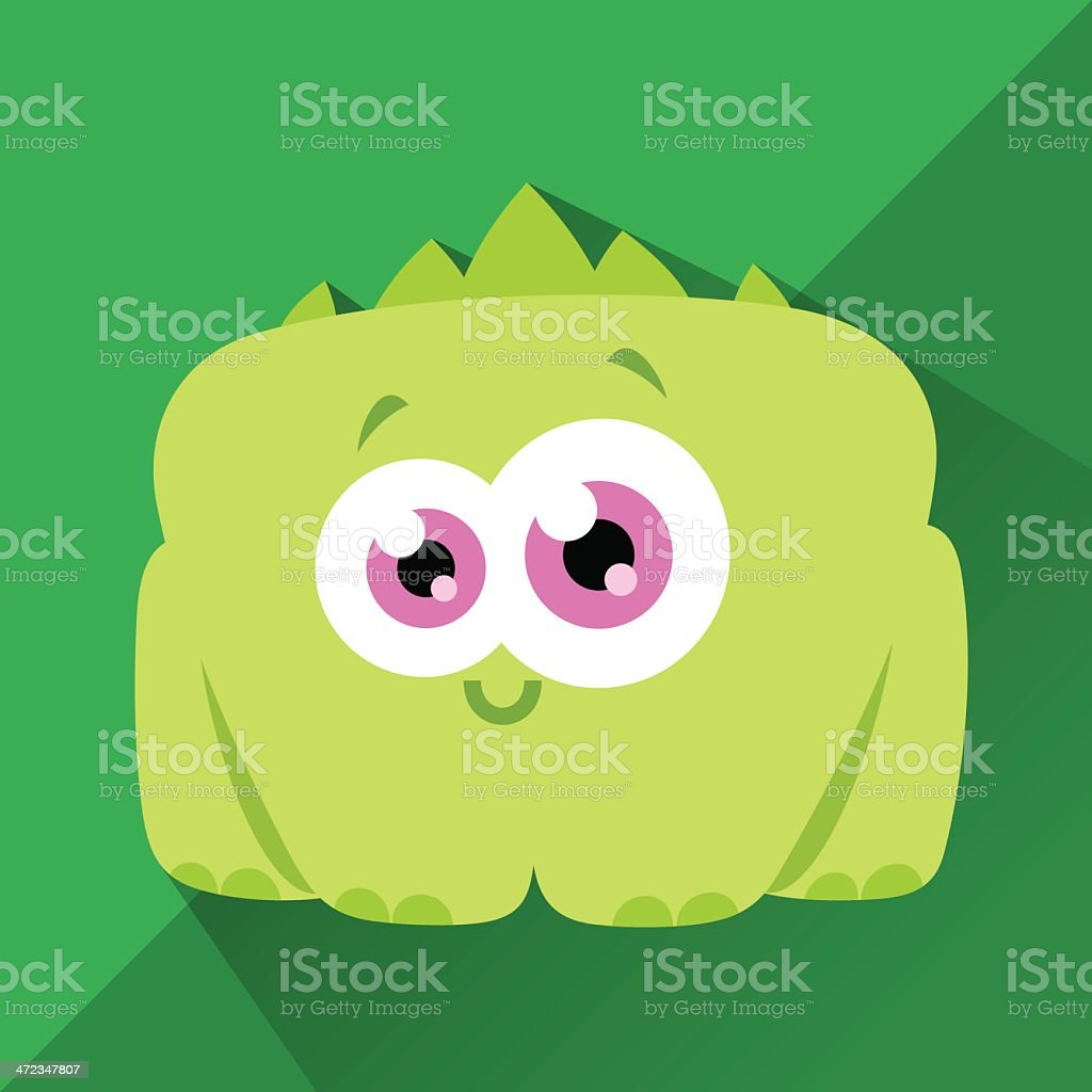 Cute Character - Dino vector art illustration