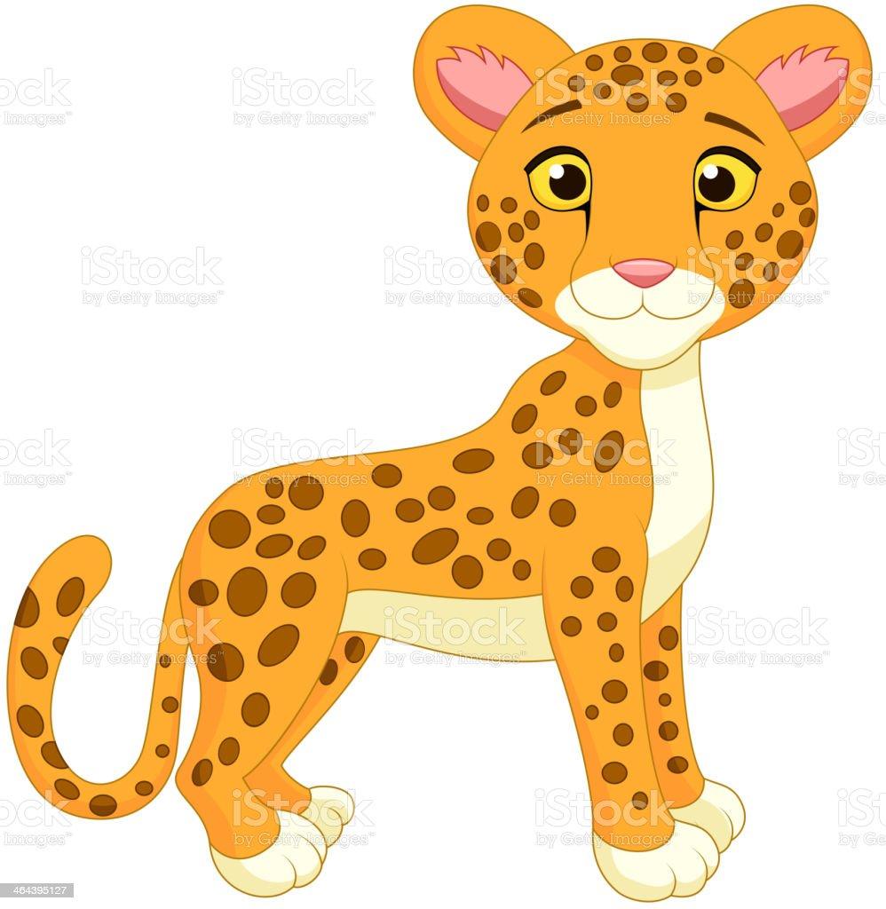 Cute cheetah cartoon royalty-free stock vector art