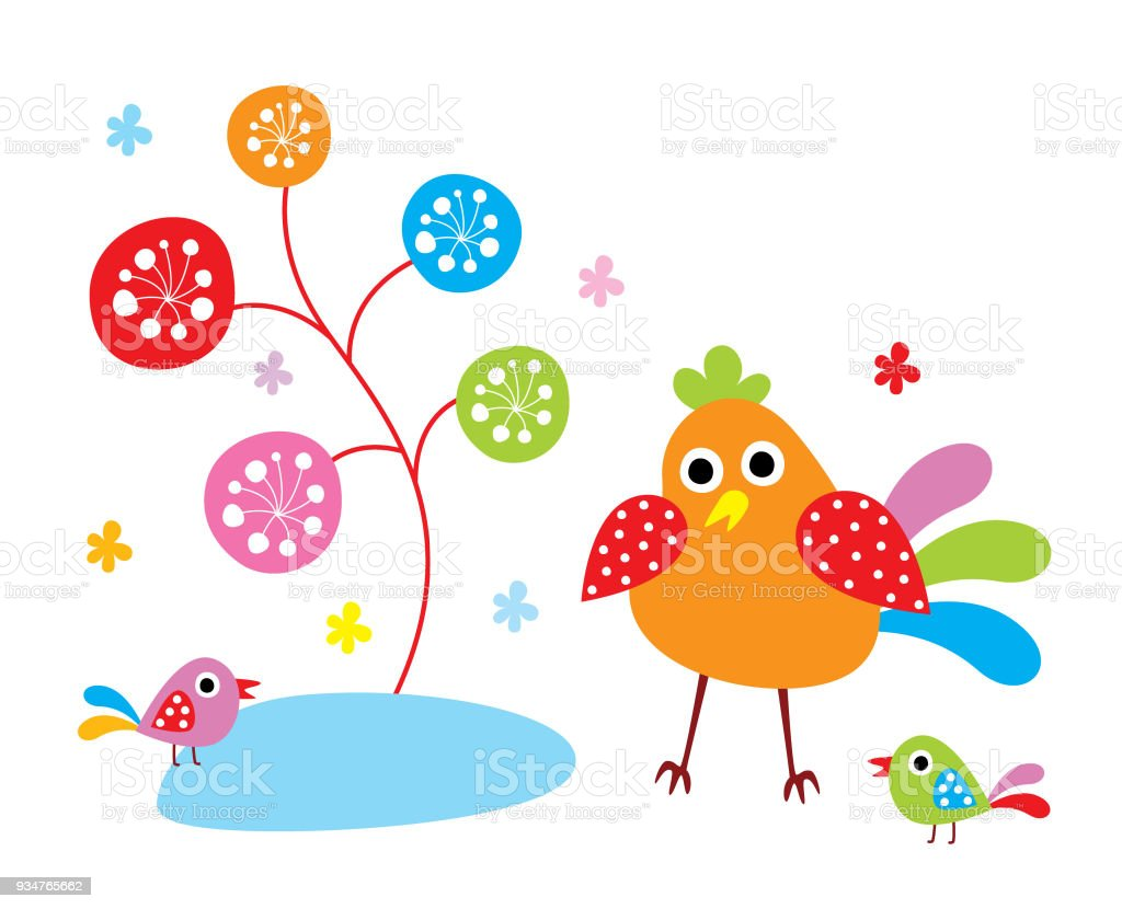 Cute Chicken Happy Mother Day Greeting Card Royalty Free