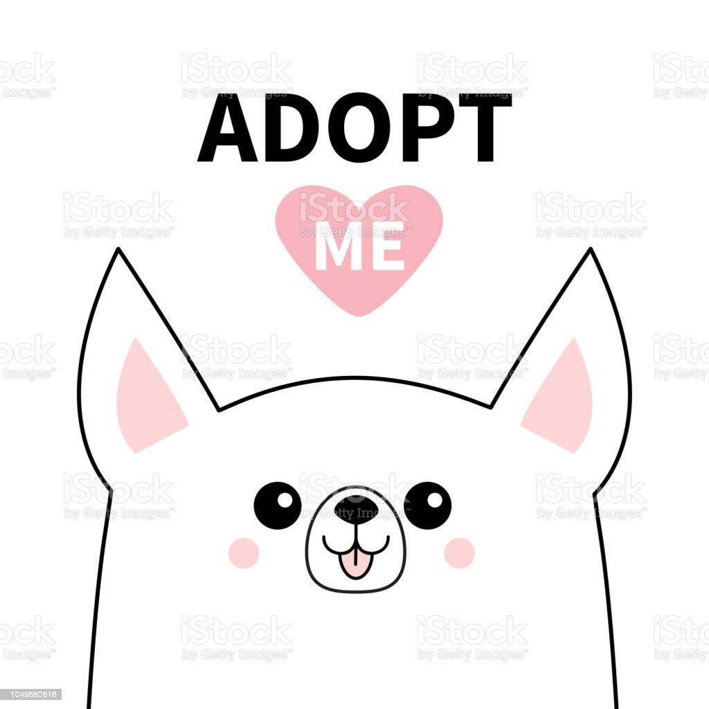 Silhouette Ligne De Chihuahua Mignon Chien Visage Adoptezmoi