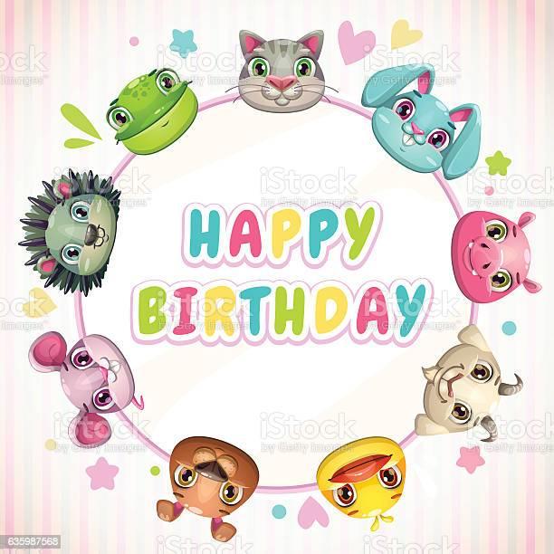Cute childish birthday card template vector id635987568?b=1&k=6&m=635987568&s=612x612&h=4xhpqolo7humpkxxznqn gme6dtpw1pjllqklohoawi=