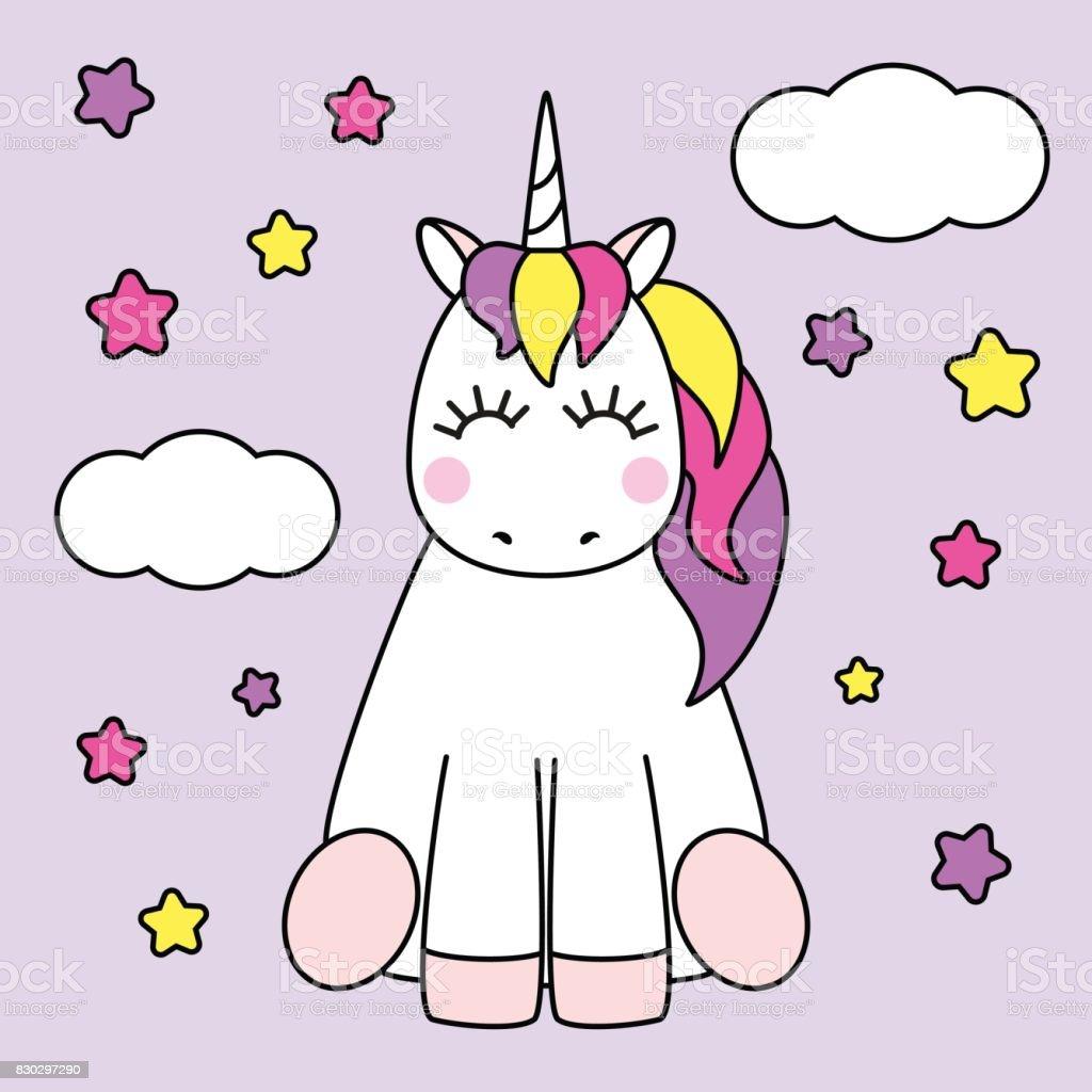Vetores De Personagem De Desenho Infantil Fofo Como Unicornio De