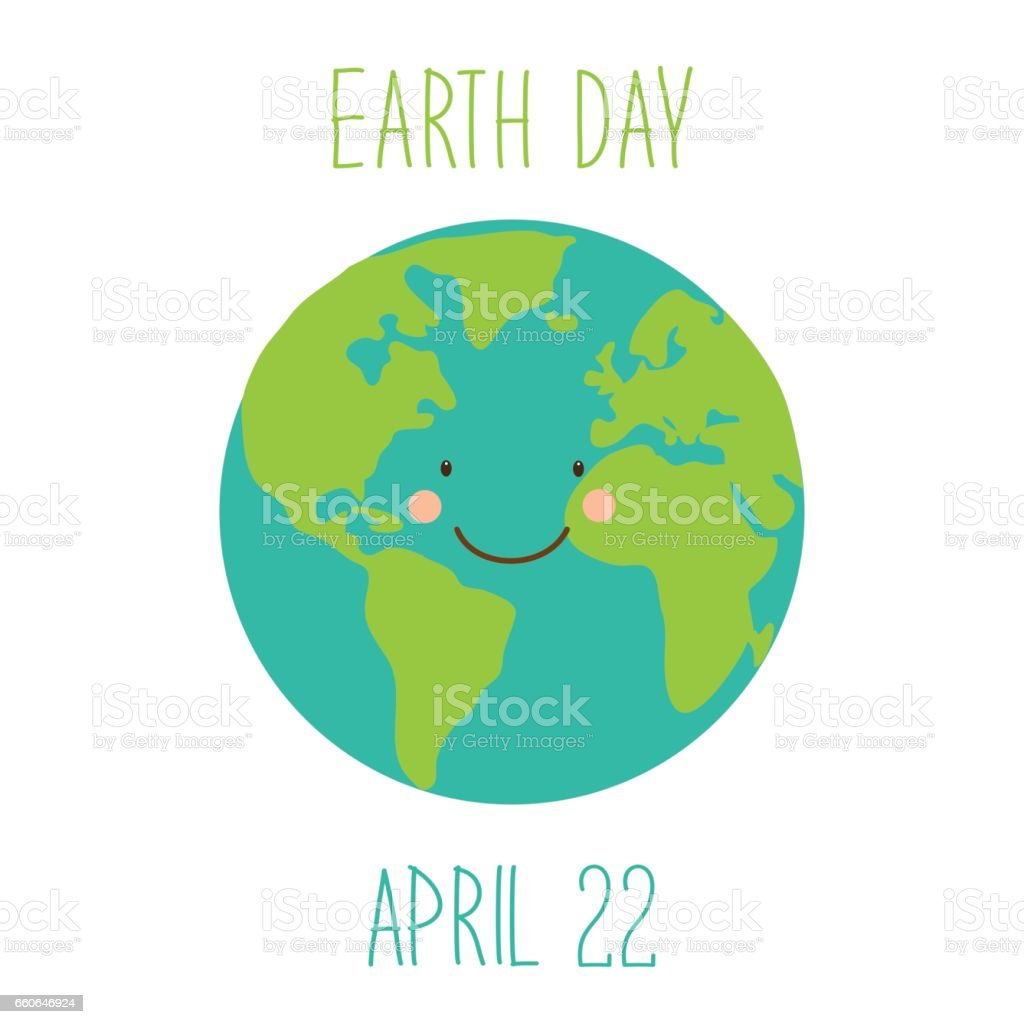 Cute childish earth day background with funny smiling cartoon cute childish earth day background with funny smiling cartoon character of planet earth royalty free ccuart