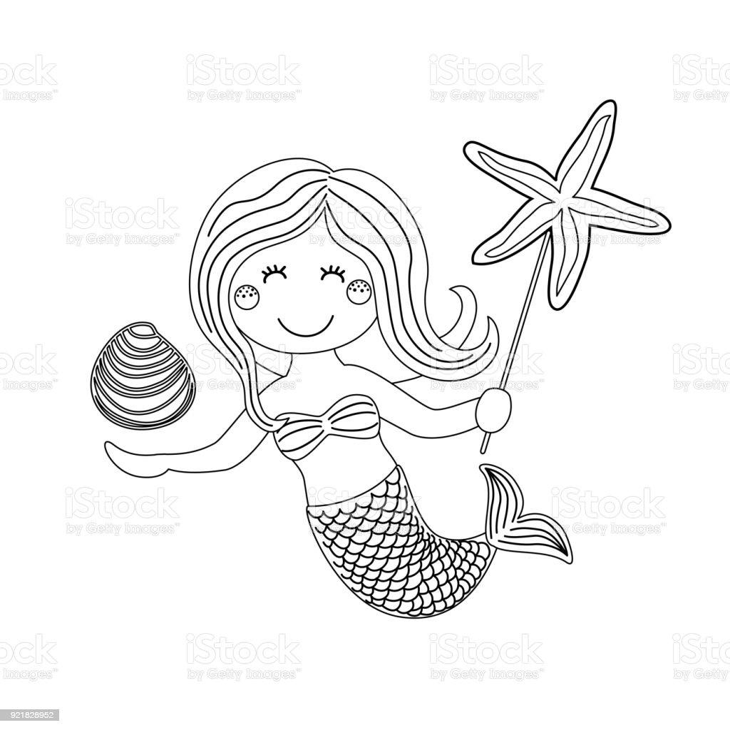 Niedliche Kindliche Handgezeichnete Cartoonfigur Der Kleinen ...