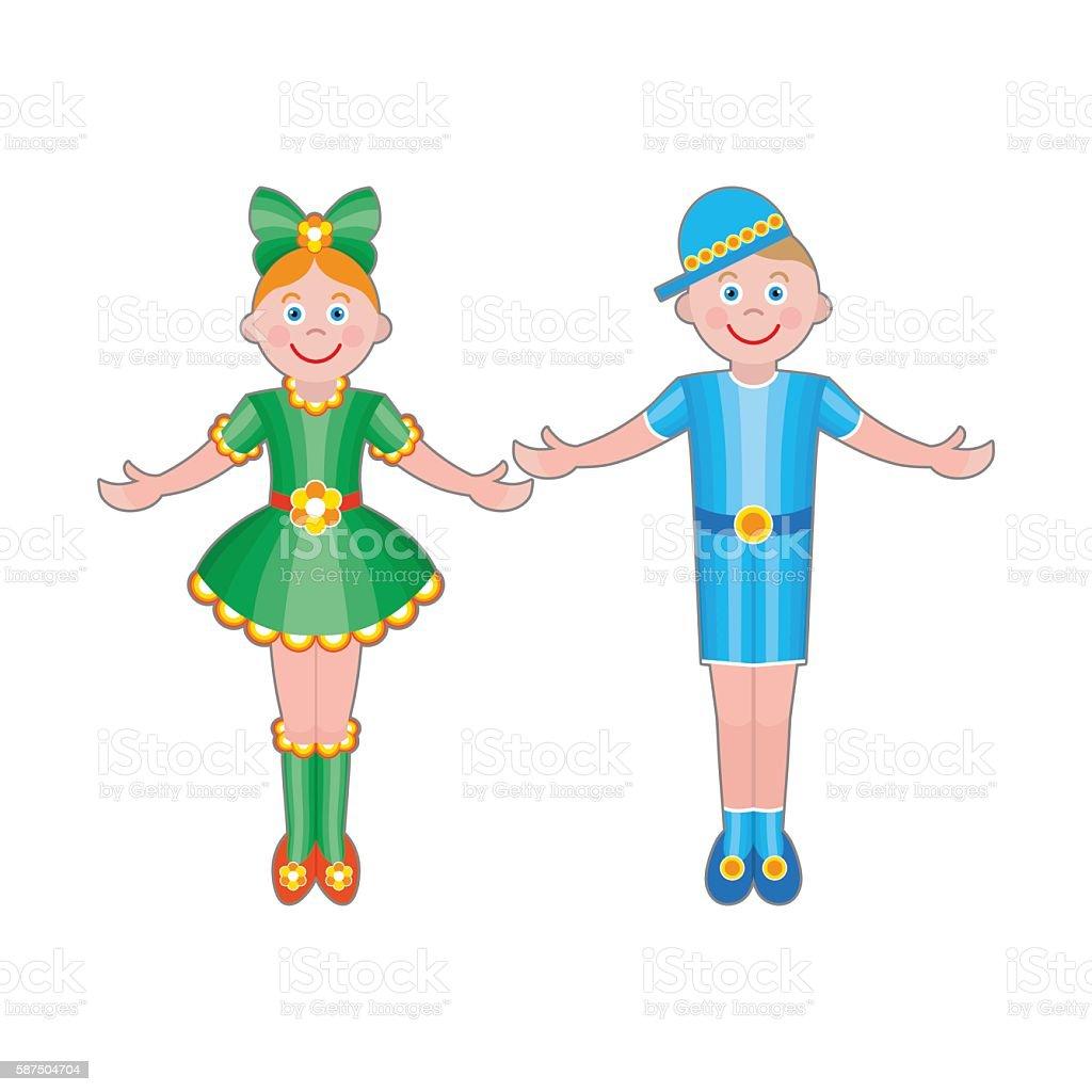 Niedlich Kinder Winkt Hand Vektor Illustration 587504704 Istock