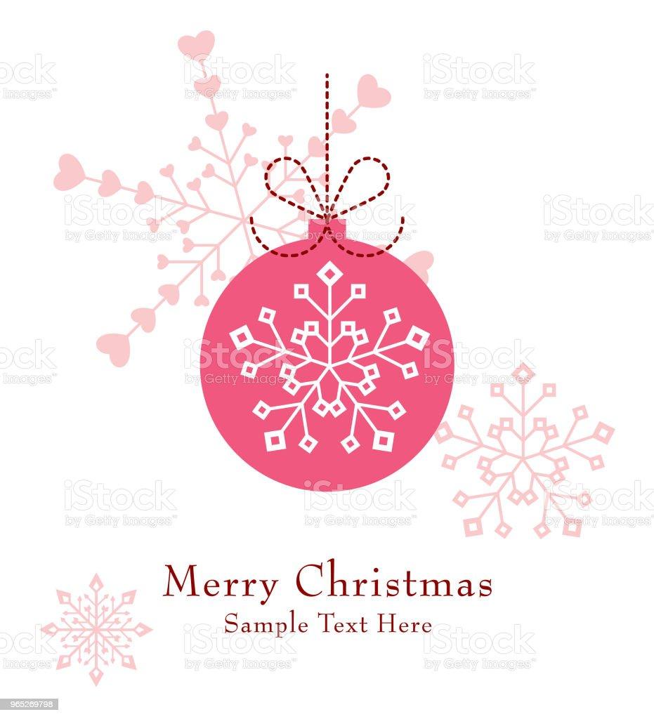 cute christmas ball ornament greeting card vector royalty-free cute christmas ball ornament greeting card vector stock vector art & more images of art