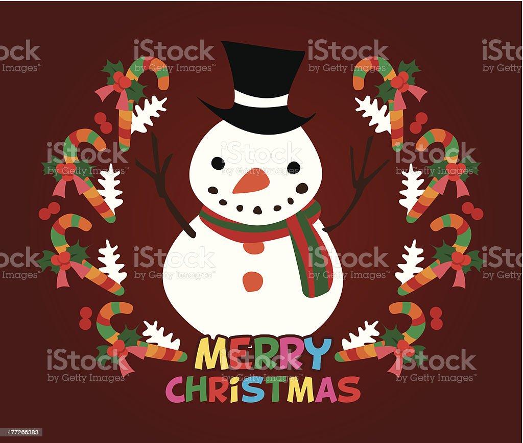 cute christmas card royalty-free stock vector art