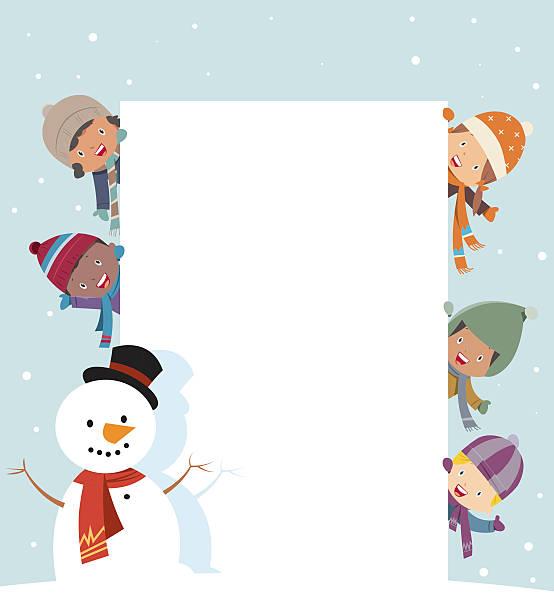 Cute Christmas card Cute Christmas card community borders stock illustrations
