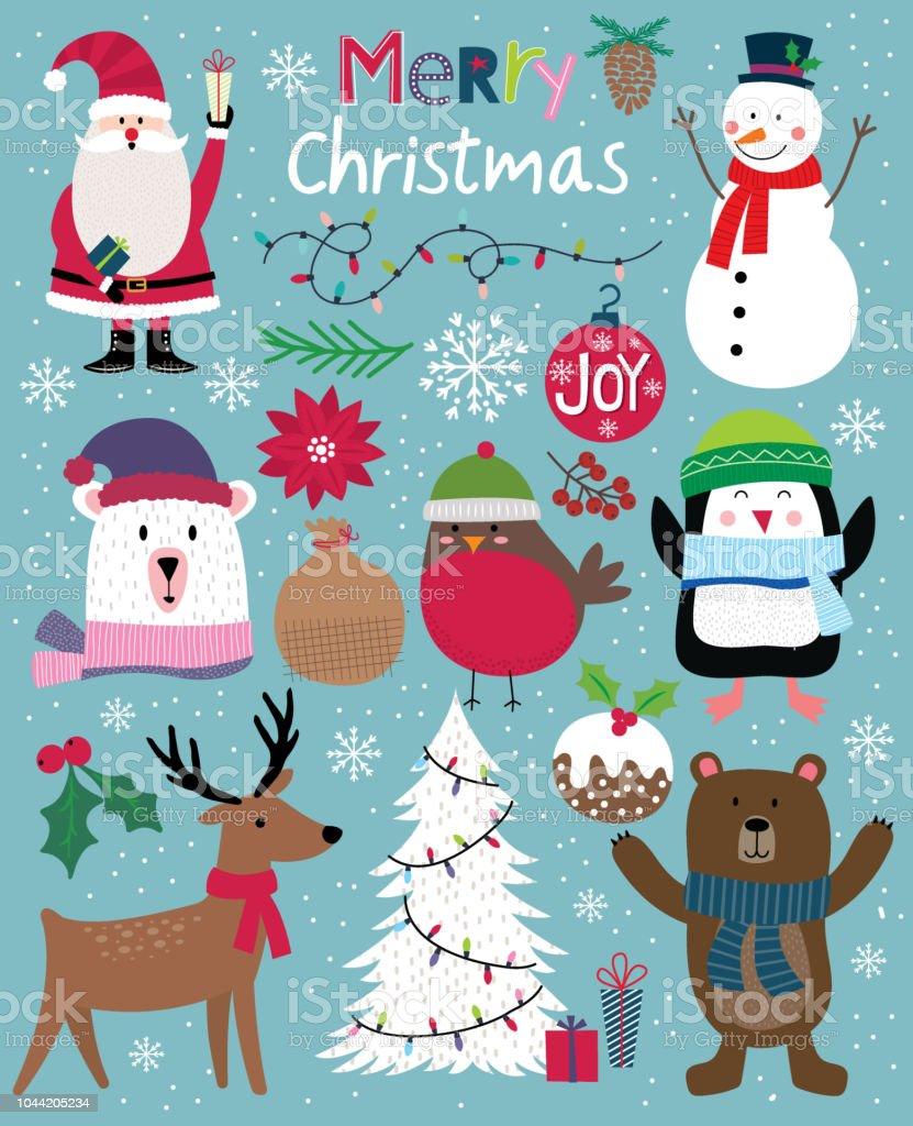 Süße Weihnachten Charakter, niedliche Christbaumkugel, Vektor-illustration - Lizenzfrei Baum Vektorgrafik
