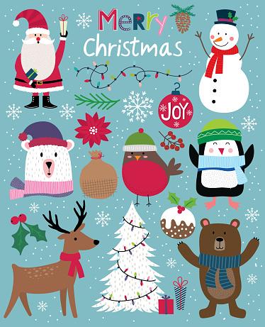 Cute Christmas Character, cute Christmas ornament, vector illustration