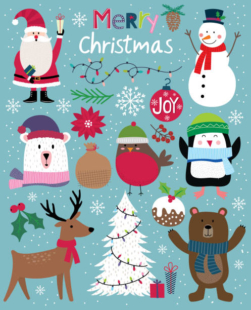 Cute Christmas Character, cute Christmas ornament, vector illustration Cute Christmas Character, cute Christmas ornament, vector illustration snowman stock illustrations