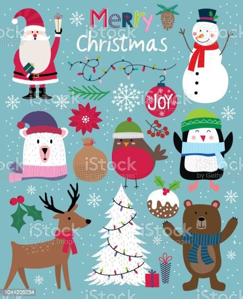 Süße Weihnachten Charakter Niedliche Christbaumkugel Vektorillustration Stock Vektor Art und mehr Bilder von Baum