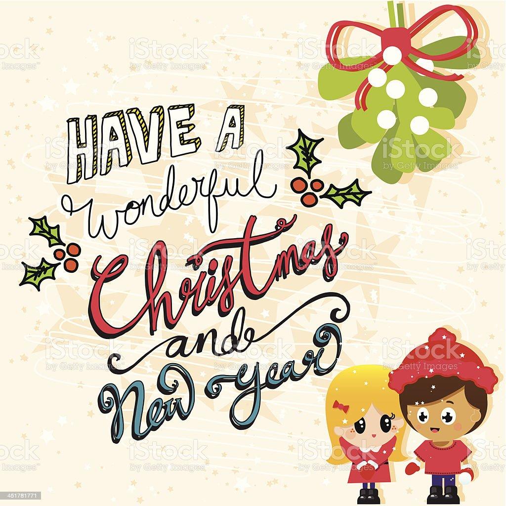 かわいいカップルはクリスマスの背景テクスチャヤドリギ - i love youの