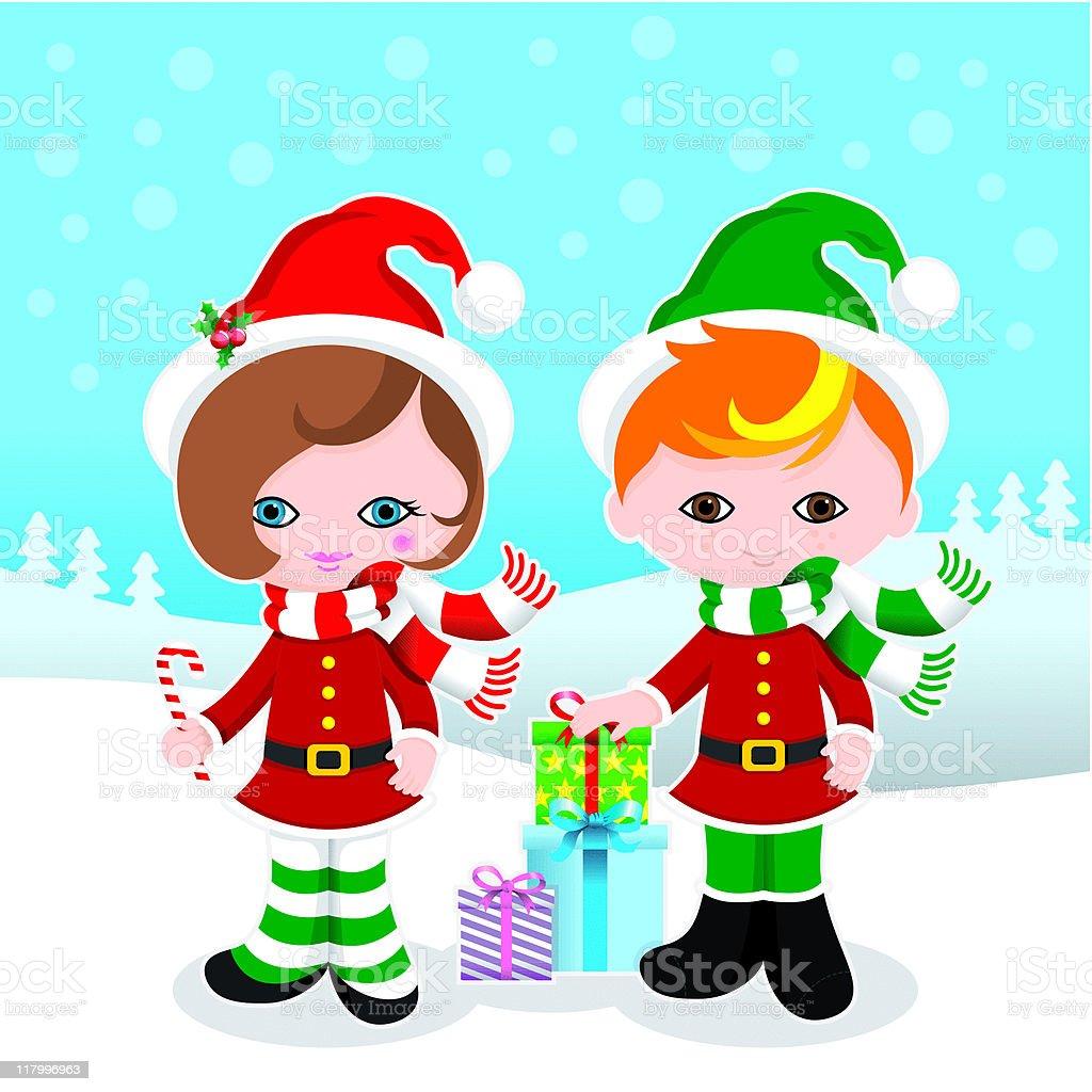 Cute Christmas kids royalty-free cute christmas kids stock vector art & more images of belt