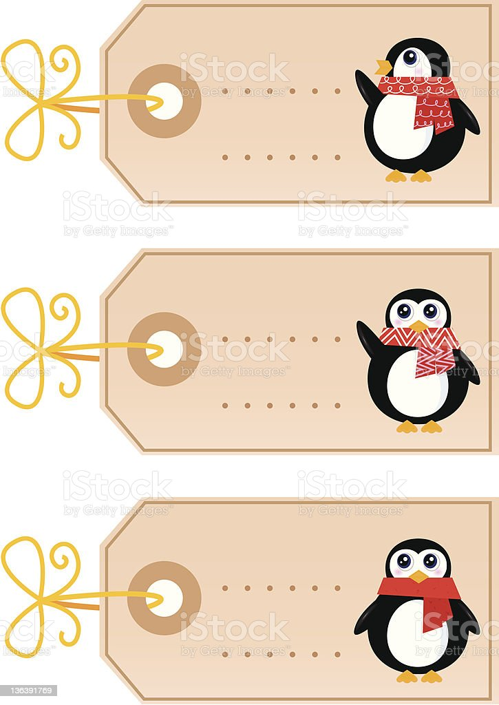 Cute christmas Penguin tags isolated on white ( retro ) royalty-free cute christmas penguin tags isolated on white stock vector art & more images of animal