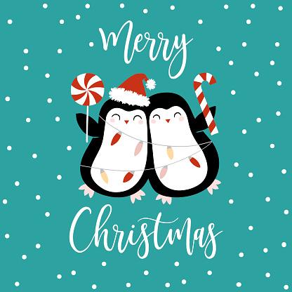 Cute Christmas penguins