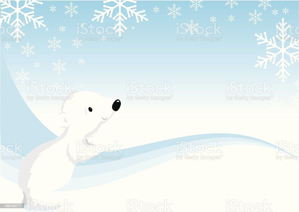 Cute Christmas polar bear royalty-free stock vector art