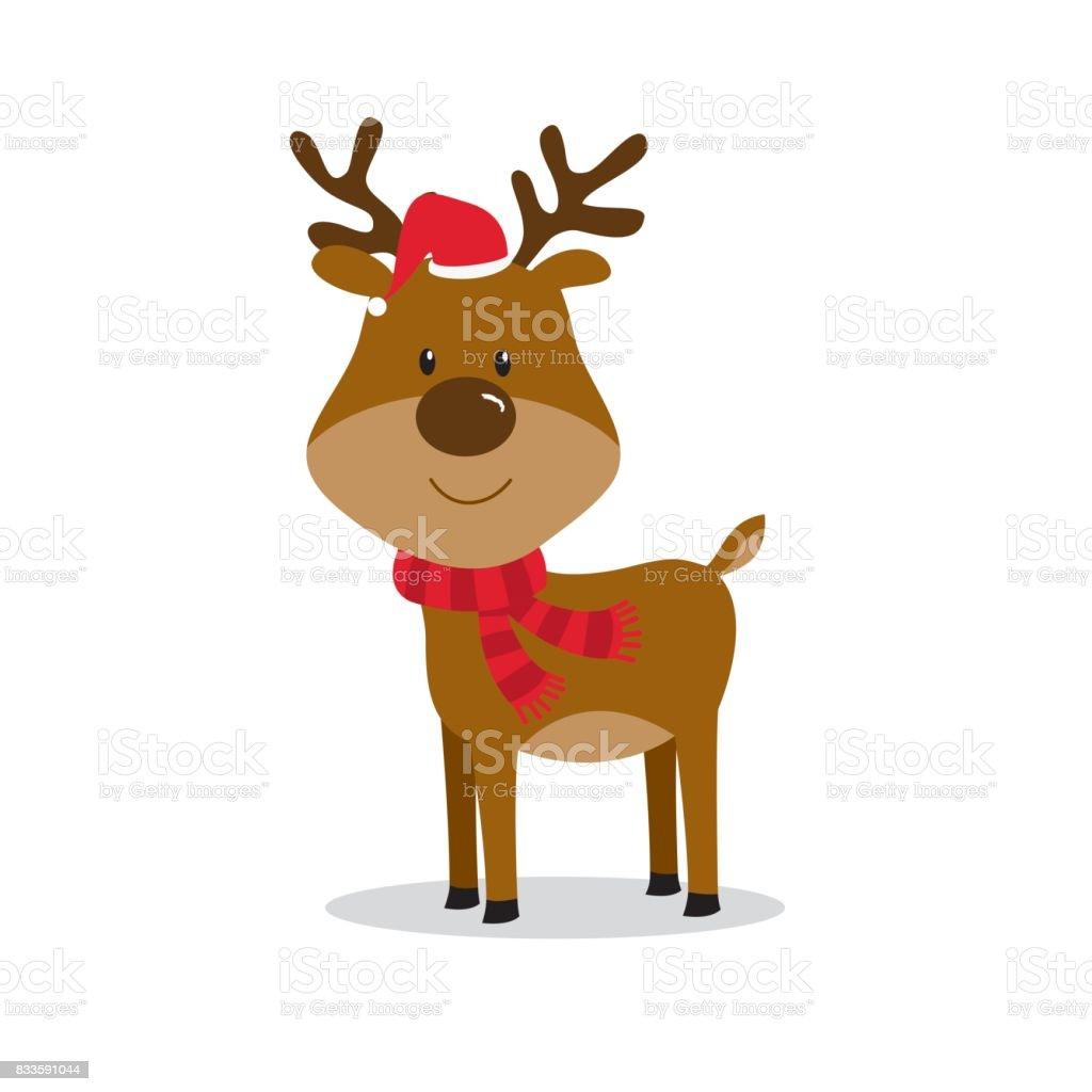 Süße Christmas Rentier Stock Vektor Art und mehr Bilder von Blatt ...
